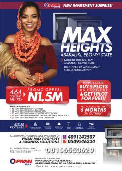 Land, Max Heights Estate, Ndukabi Igbeagu Izzi, Abakaliki, Ebonyi, Mixed-use Land for Sale