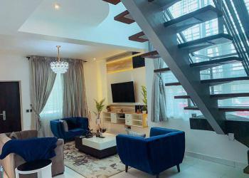 Brand New Luxurious 2 Bedrooms Duplex with Astonishing Furnishing, Richmond Estate, Ikate, Lekki Phase 1, Lekki, Lagos, Terraced Duplex Short Let