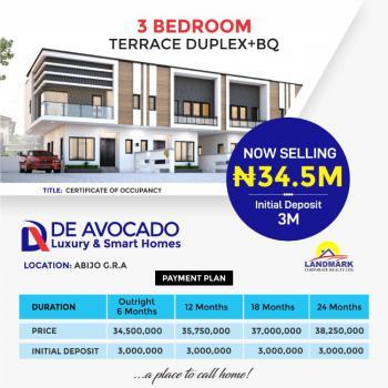 3 Bedroom Terrace  with a Bq, Abijo, Lekki, Lagos, Terraced Duplex for Sale