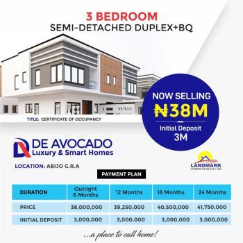 3 Bedroom Semi Detached Duplex with a Bq, Smart Home, Abijo, Lekki, Lagos, Semi-detached Duplex for Sale