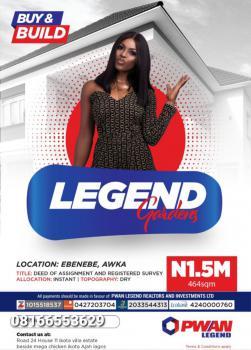 Legend Gardens, Ebenebe, Awka, Anambra, Mixed-use Land for Sale