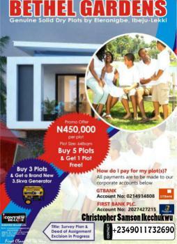 genuine Cheap Plots of Land,survey Plan+deed of Assignment, bethel Gardens, 20 Mins Inside Eleranigbe in Gbedu Village, Ibeju Lekki, Lagos, Land for Sale