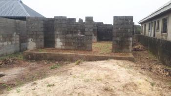 Uncompleted 3 Bedroom Bungalow on a Half Plot of Land, Agunfoye, Igbogbo, Ikorodu, Lagos, Residential Land for Sale
