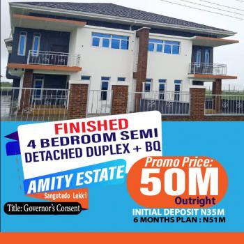 Finished 4 Bedroom Semi Detached Duplex with Bq, Amity Estate, Sangotedo, Ajah, Lagos, Semi-detached Duplex for Sale