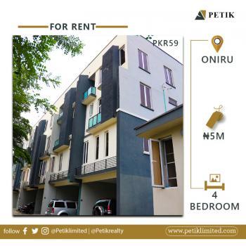 4-bedroom with Bq, Oniru, Lekki, Lagos, Terraced Duplex for Rent