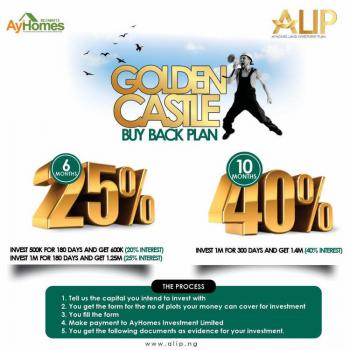 Amazing Land Investment Plan, Golden Castle Buy Back Plan., Buy Back Plan, Make 20% Roi in 6 Months, Eredo, Epe, Lagos, Mixed-use Land for Sale
