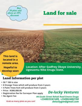 Land, After Godfrey Okoye University Permanent Site, Nkanu, Enugu, Mixed-use Land for Sale