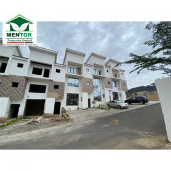 Newly Built 4 Bedrooms Terraced with 1 Room Bq Attached, Guzape District, Abuja, Terraced Bungalow for Sale