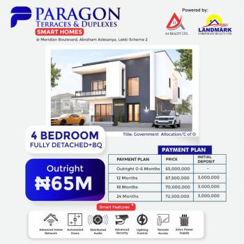 Contemporary 4 Bedrooms Detached Duplex with a Bq + 2 Years Payment Plan, Paragon Smart Homes, Meridian Boulevard Estate, Okun-ajah, Ajah, Lagos, Detached Duplex for Sale