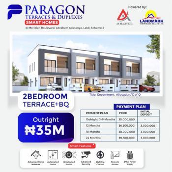 Contemporary 2 Bedrooms Terraced Duplex with 1 Bq + 2 Years Payment Plan, Paragon Smart Homes, Meridian Boulevard Estate, Okun-ajah, Ajah, Lagos, Terraced Duplex for Sale