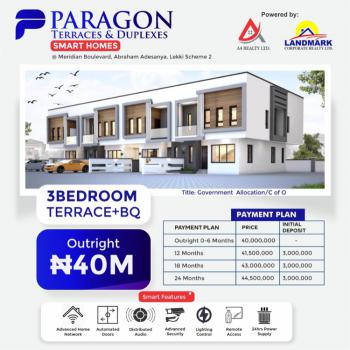 Paragon Luxury and Smart Homes, Meridian Boulevard Estate, Okun-ajah, Ajah, Lagos, Terraced Duplex for Sale