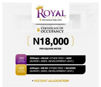 Land, Royal Garden Estate, Lekki Free Trade Zone, Lekki, Lagos, Residential Land for Sale