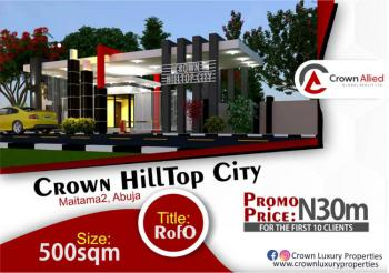 5 Bedroom Fully Detached Duplex Land, Close to Power Sub Station Katampe, Maitama 2, Maitama District, Abuja, Residential Land for Sale