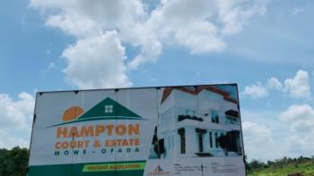 Own Plots in This Residential Estates Around Amazing Locations, Hampton Court and Estate, 5 Minutes From International Breweries, Mowe Ofada, Ogun, Residential Land for Sale