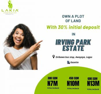 with Just 30% Initial Deposit Own Land in a Secure Environment, Awoyaya, Ibeju Lekki, Lagos, Mixed-use Land for Sale