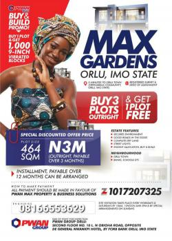 Max Gardens Estate, Orlu Town, Orlu, Imo, Mixed-use Land for Sale