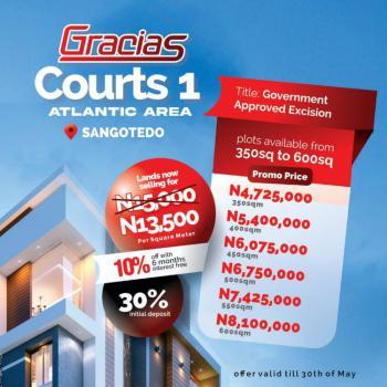 Gracias Atlantic View Estate, Sangotedo (eti-osa) Off Monastery Road., Sangotedo, Ajah, Lagos, Residential Land for Sale