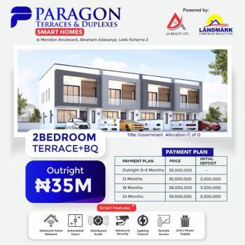 Newly Built Paragon Terrace Smart Homes, Abraham Adesanya, Ajah, Lagos, Terraced Duplex for Sale