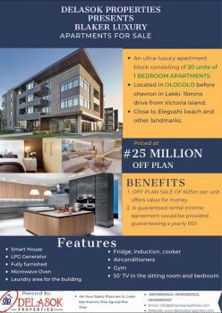 Off Plan, 1 Bedroom Luxury Apartment, Agungi, Lekki, Lagos, Flat / Apartment for Sale