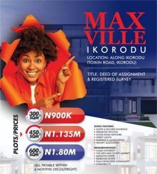 100% Dry with Instant Allocation Close to Caleb University, Itiokin Ikorodu Road, Ikorodu, Lagos, Land for Sale