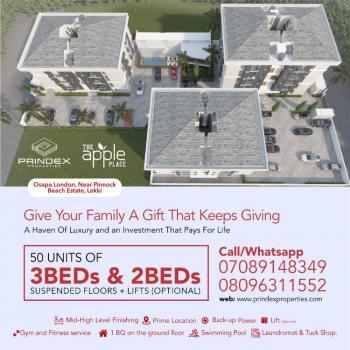 3 Bedroom Apartments, Off Kenneth Okonkwo Road, Behind Pinnock Beach Estate, Osapa, Lekki, Lagos, Flat for Sale