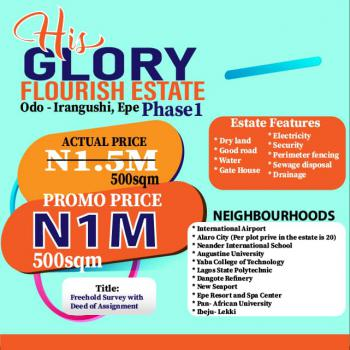 His Glory Flourish Estate Phase 1, Back of Yabatech Polytechnic Odo-irangushi, Epe, Lagos, Mixed-use Land for Sale