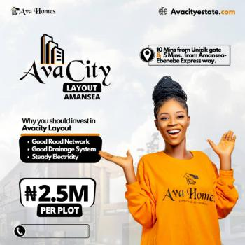 Avacity Layout, Amansea, Awka, Anambra, Residential Land for Sale