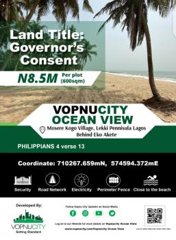 Land, Vopnu City Ocean View Estate, Behind Eko Akete, Mosere Ikoga, Ibeju Lekki, Lagos, Residential Land for Sale