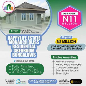 Monarch Bliss Residential: Happy Life Estate., Mowe Town, Ogun, Detached Bungalow for Sale