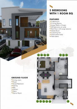 5 Bedrooms Plus 1 Room Bq, 6th&9th Avenue Edmund Medani Crescent, Mabushi, Abuja, Residential Land for Sale