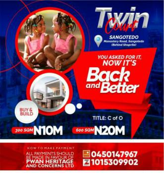 Land, Twin Court Estate, Behind Shoprite, Monastery Road, Sangotedo, Ajah, Lagos, Residential Land for Sale
