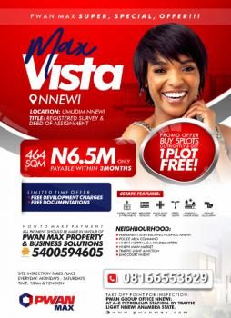 Land, Max Vista Estate, Nnewi, Anambra, Mixed-use Land for Sale