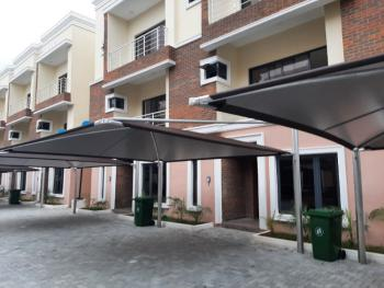 Newly Built 4 Bedrooms Terrace with a Bq, Serviced with 24 Hours Light, Lekki Phase 1, Lekki, Lagos, Terraced Duplex for Rent