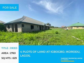 4 Plots of Land, Ikorodu, Lagos, Residential Land for Sale