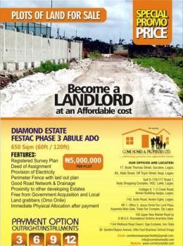 Land, Abule Ado, Diamond Estate Festac Phase2, Festac, Amuwo Odofin, Lagos, Residential Land for Sale