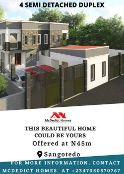 Distress 2 Units of Spacious 4 Bedroom Semidetached with Mortgage, Value County, Sangotedo, Ajah, Lagos, Semi-detached Duplex for Sale