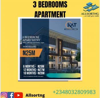 3 Bedrooms Apartment, Kat Apartments, Abijo, Lekki, Lagos, Block of Flats for Sale
