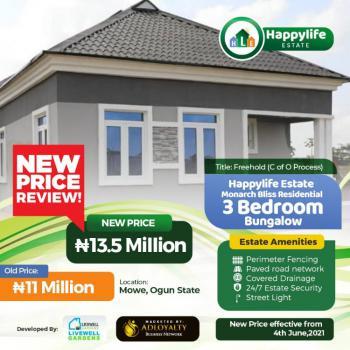 3 Bedrooms Semi Detached Bungalow, Mowe Ofada, Ogun, Terraced Bungalow for Sale