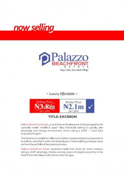 Own a Piece of Property Proximity to The Beachfront., Solu Aade / Palazzo Beachfront  Estate, Ibeju Lekki, Lagos, Mixed-use Land for Sale