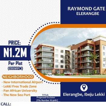 100% Dry Land with Instant Allocation, Raymond Court, Eleranigbe, Ibeju Lekki, Lagos, Residential Land for Sale