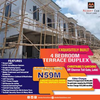 Exclusive 4 Bedroom Terrace Duplex, Chevron Toll Gate, Lekki, Lagos, Terraced Duplex for Sale