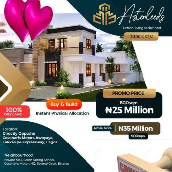 Land with C of O and 24 Hours Security, By Greensprings Schools and Coscharis Motors, Awoyaya, Ibeju Lekki, Lagos, Mixed-use Land for Sale