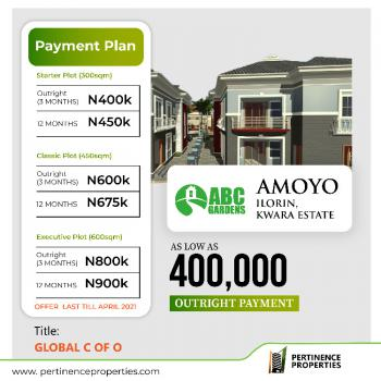 Global C of O, Amoyo, Ilorin West, Kwara, Land for Sale