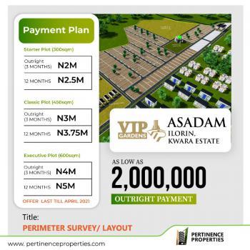 Vip Gardens, Ilorin Kwara State., Asa, Kwara, Residential Land for Sale