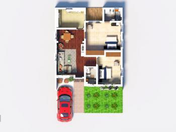 Excellent 2 Bedroom Bungalow Havilahs Court, Mowe Ofada, Ogun, Terraced Bungalow for Sale