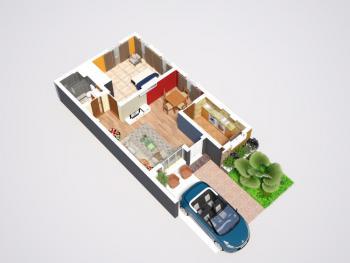 Beautiful One Bedroom Terrace Bungalow, Havilahs Court, Mowe Ofada, Ogun, Terraced Bungalow for Sale