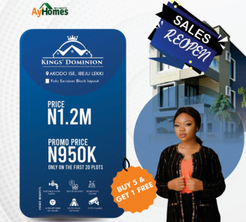 Kings Dominion, Akodo Ise, Ibeju Lekki, Lagos, Residential Land for Sale