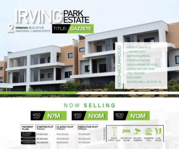 Plots of Land with Good Title for Residential Purpose, Irving Park, Awoyaya, Ibeju Lekki, Lagos, Residential Land for Sale