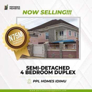 4 Bedroom Semi- Detached Duplex, No 21, Tunji Ladipo Street, Behind Shasha Airforce Base, Idimu, Lagos, Semi-detached Duplex for Sale