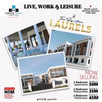 Luxury 2 Bedroom Maisonette in Good Location, The Signature Laurels, Atlantic Layout Estate, Ajiwe, Ajah, Lagos, Block of Flats for Sale